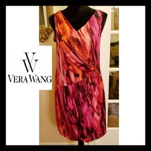 ❤❤VERA WANG SIDE PLEAT DRAPE DRESS